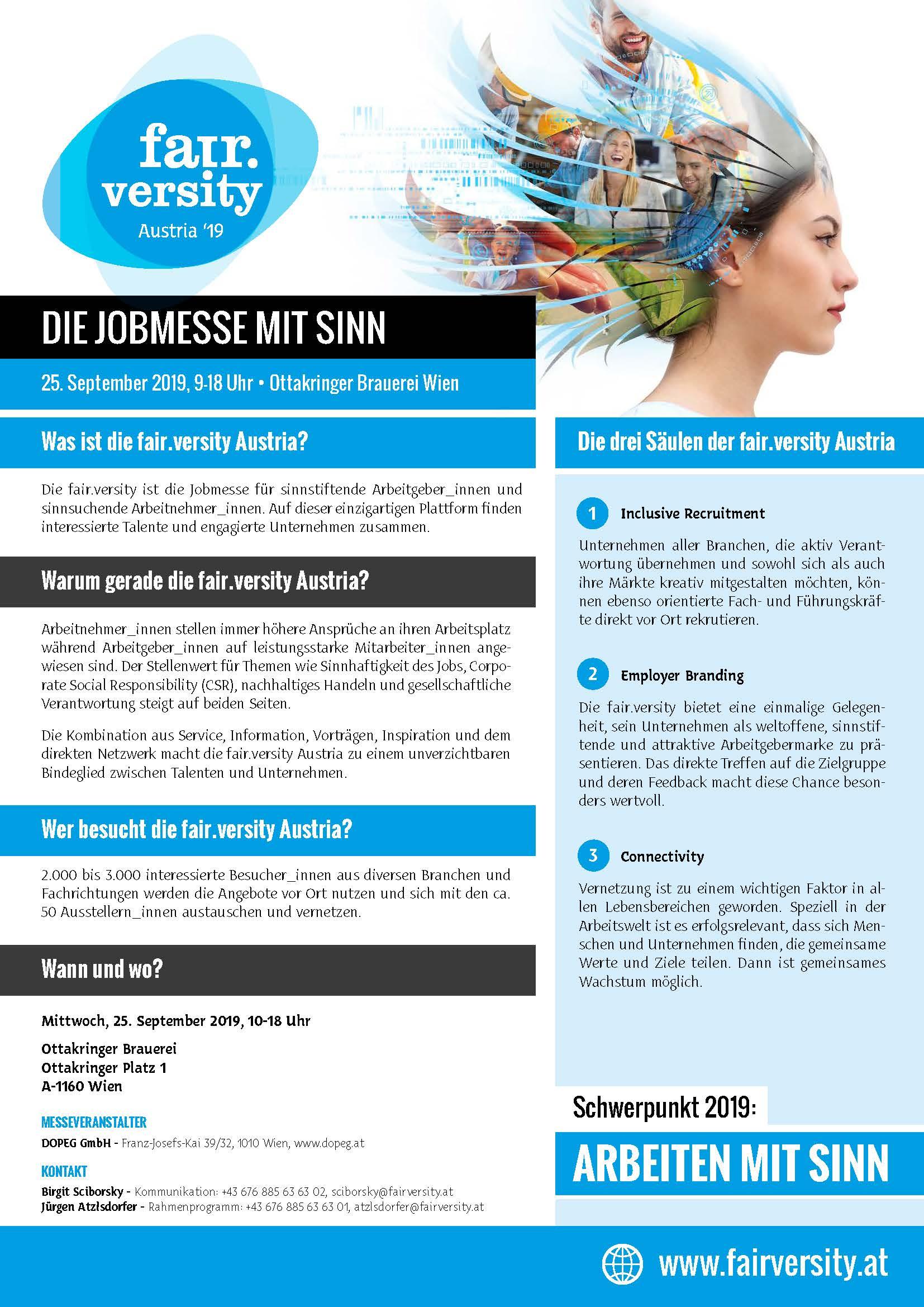 fair.versity OnePage-Infos